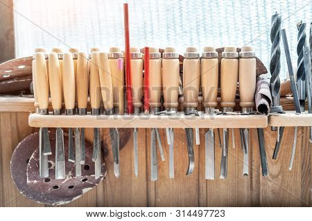 Set Woodworking Tools Image Photo Free Trial Bigstock