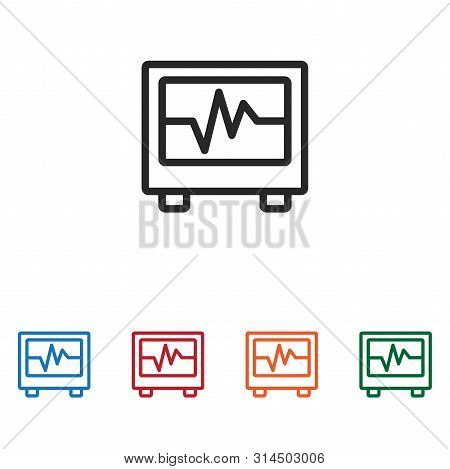 Electrocardiogram Icon Isolated On White Background. Electrocardiogram Icon In Trendy Design Style.