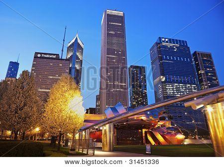 Jay Pritzker Pavilion In Millenium Park