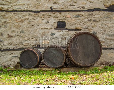 Three Wine Barrels