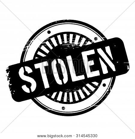 Stolen Stamp On White Background. Stickers And Stamps Series.