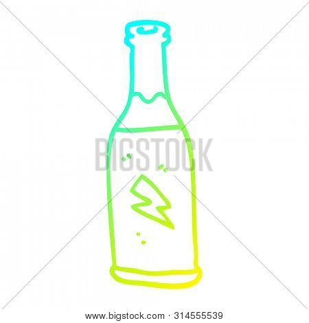 cold gradient line drawing of a cartoon cheap drink
