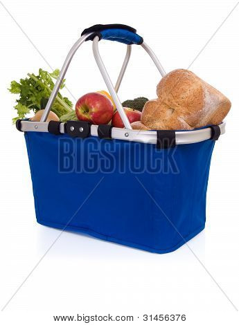Fresh food: basket of groceries