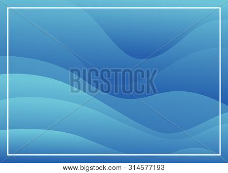 Abstract Blue With Wave Gradations Background, Modern Texture Background, Color Gradations Elegant B