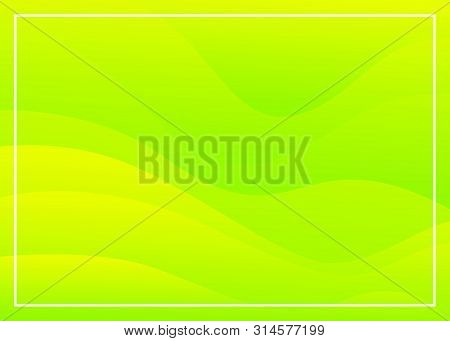 Abstract Green Lemon Background Wave Gradations, Modern Texture Background, Color Gradations Elegant
