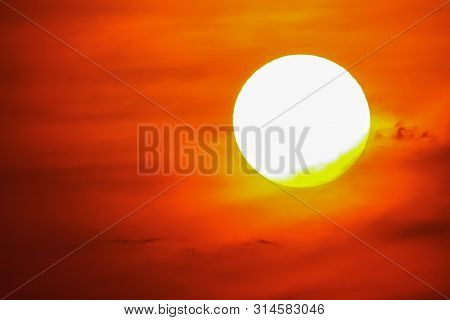 Sunset Sky Orange Sky Orange Cloud Outdoor Summer Nature