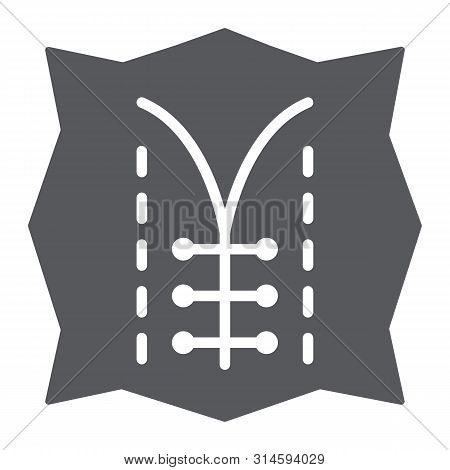 Seam Glyph Icon, Dressmaking And Sew, Textile Sign, Vector Graphics, A Solid Pattern On A White Back