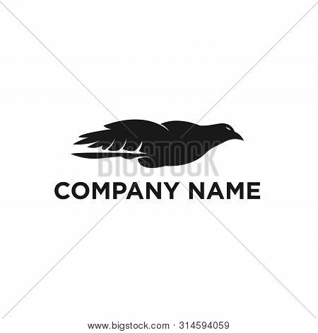 The Flying Eagle. Vector Emblem. Eagle Icon, Eagle Design Vector, Eagle Icon Picture, Eagle Icon Vec
