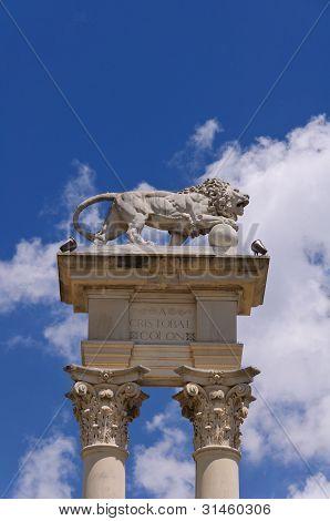 Columbus Monument Detail, Seville