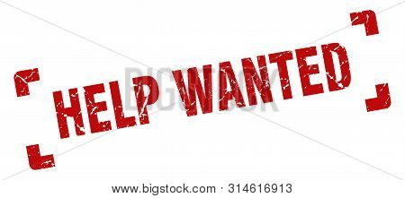 Help Wanted Stamp. Help Wanted Square Grunge Sign. Help Wanted