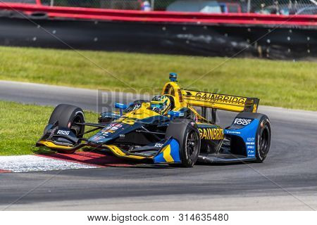 July 26, 2019 - Lexington, Ohio, USA: ZACH VEACH (26) of the United States  practices for the Honda Indy 200 at Mid Ohio at Mid-Ohio Sports Car Course in Lexington, Ohio.