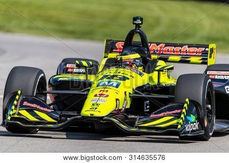 July 26, 2019 - Lexington, Ohio, USA: SEBASTIEN BOURDAIS (18) of France  practices for the Honda Indy 200 at Mid Ohio at Mid-Ohio Sports Car Course in Lexington, Ohio.