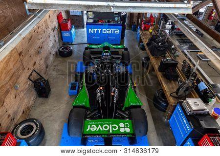 July 26, 2019 - Lexington, Ohio, USA: FELIX ROSENQVIST (10) of Sweden  prepares to practice for the Honda Indy 200 at Mid Ohio at Mid-Ohio Sports Car Course in Lexington, Ohio.