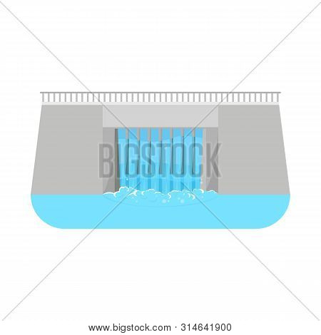 Isolated Object Of Hydro And Station Logo. Set Of Hydro And Dam Stock Symbol For Web.