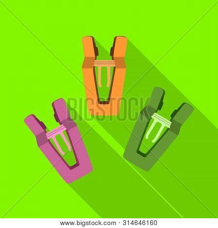 Vector Illustration Of Peg And Clothespin Symbol. Set Of Peg And Hanger Stock Symbol For Web.