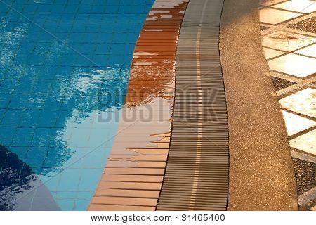 Floor Of Swimming Pool In The Luxury Resort