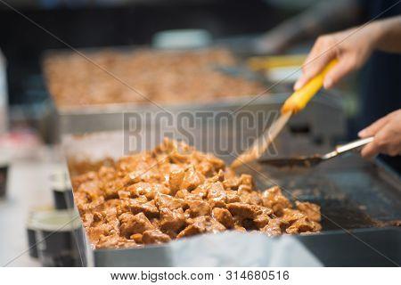 Japanese Food Style, Buta Steak,japanese Teppanyaki, Close Up