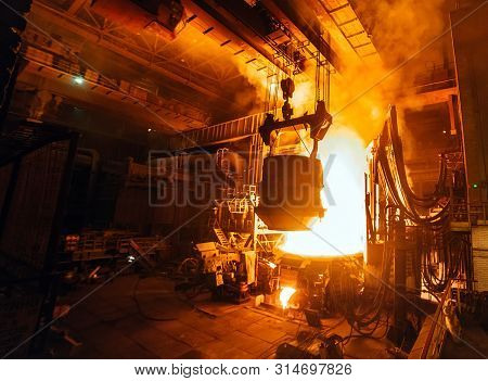 Steel Production In Electric Furnaces, Metallurgical Plant