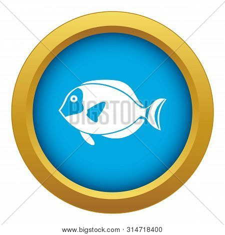 Surgeon Fish Icon Blue Vector Isolated On White Background For Any Design