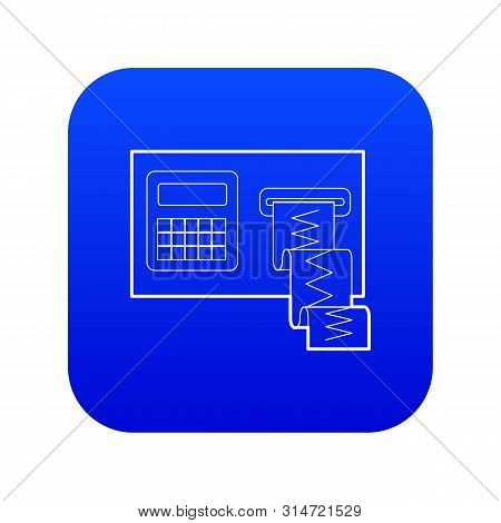 Cardiograph Icon Blue Vector Isolated On White Background