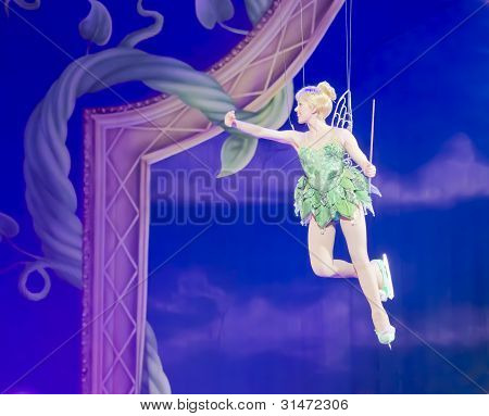 Tinker Bell Waving To Crowd
