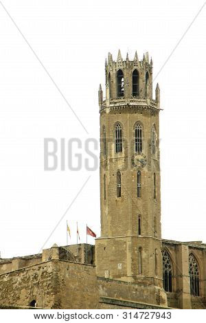 Tower Of The Gothic Cathedral Of Lleida, Spain, Known As Seu Vella