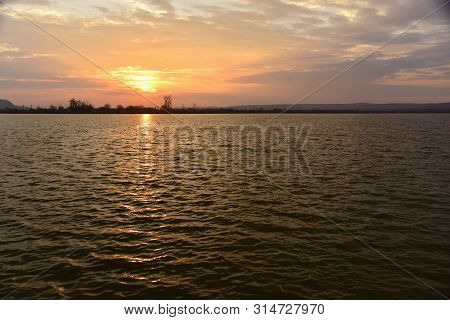 Sunrise; Between Clouds , Cipau Lake, Iernut, Transylvania