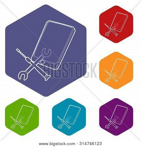 Gadget After Reparation Icon. Outline Illustration Of Gadget After Reparation Vector Icon For Web De