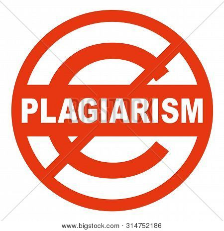Plagiarism Sign On White Background. Badges And Stamps Series.