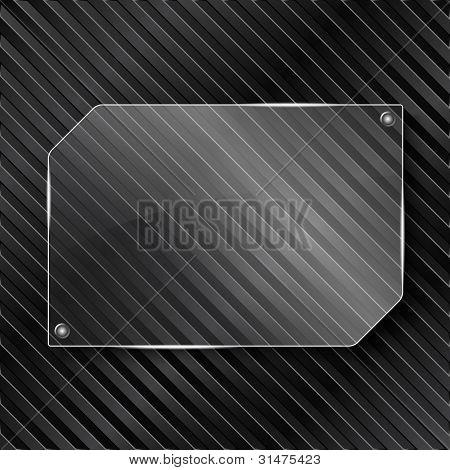 Transparent glass frame