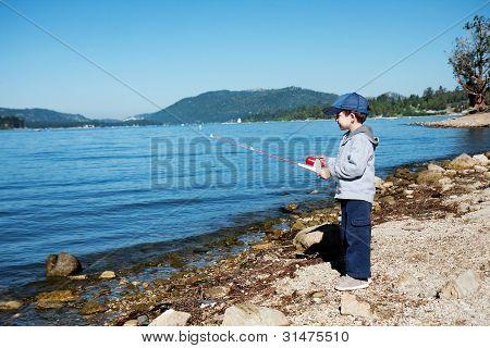 Small Boy Fishing