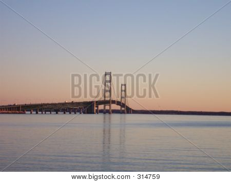 Mackinaw Bridge, Reflecting Waters