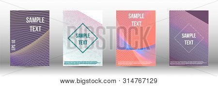 Modern Design Template. A Set Of Modern Abstract Covers. Artistic Covers Design.  Creative Backgroun