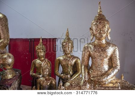 The Buddha Statue In Nonthaburi Province Of Thailand