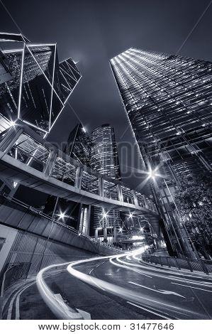 City Night of Hong Kong