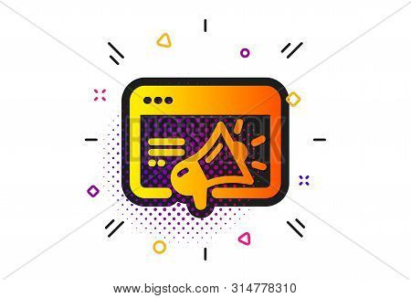 Web Targeting Sign. Halftone Circles Pattern. Seo Marketing Icon. Traffic Management Symbol. Classic