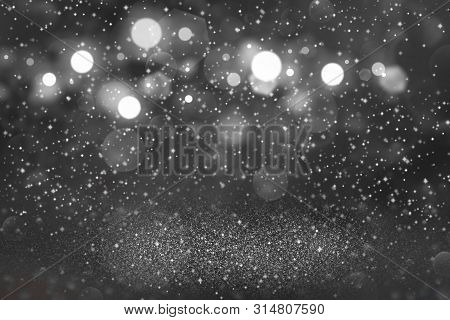 Beautiful Shiny Abstract Background Glitter Lights With Sparks Fly Defocused Bokeh - Festal Mockup T