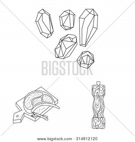 Vector Illustration Of Sodium And Mineral Symbol. Set Of Sodium And Kitchen Stock Vector Illustratio