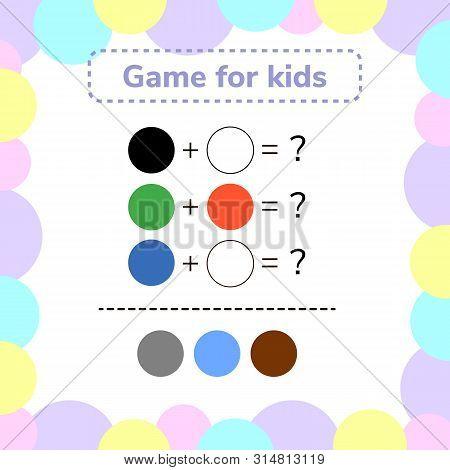 illustration. game for preschool kids. rebus for children poster