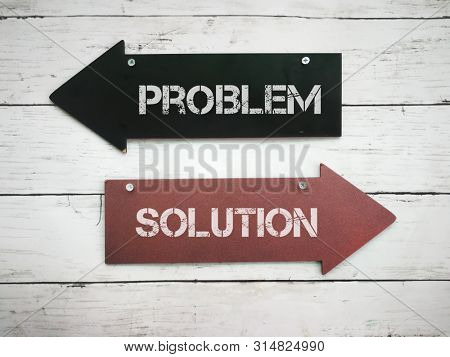 Arrow for direction towards problem or solution