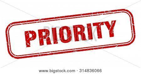 Priority Stamp. Priority Square Grunge Sign. Priority