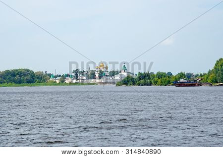 Summer View Of The Holy Trinity Ipatiev Male Monastery On Kostroma River In Old Russian City Kostrom