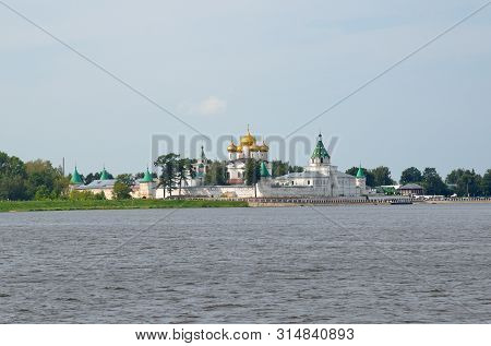 Holy Trinity Ipatievsky Male Monastery On Kostroma River In City Kostroma, Yaroslavl Region. The Gol