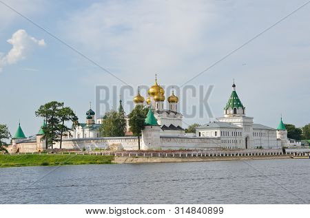 Holy Trinity Ipatiev Male Monastery On Kostroma River In Kostroma, Yaroslavl Region. The Golden Ring