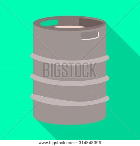 Vector Design Of Cask And Barrel Sign. Set Of Cask And Sketch Vector Icon For Stock.