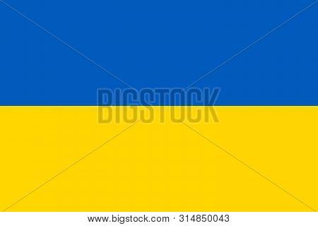 The Flag Of Ukraine. Vector Illustration. Eps 10. Kyiv, Odessa, Lviv. Ukrainian Flag.