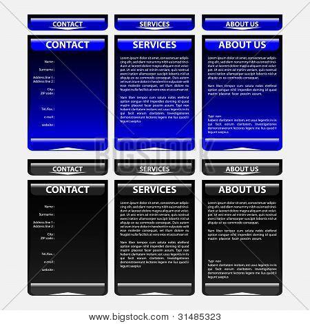Set Of Website Elements - Menu