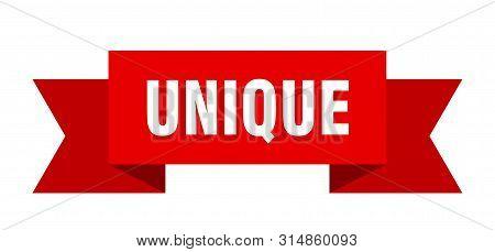 Unique Ribbon. Unique Isolated Sign. Unique Banner