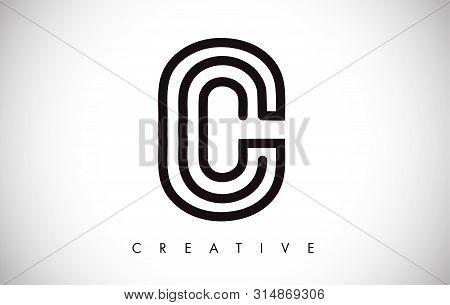 C Letter Modern Trendy Design Logo. Letter C Icon Logo With Monogram Vector Illustration.