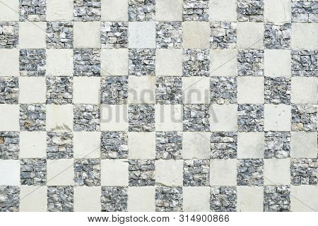 Vintage Checkerboard Chequered Pattern Background Or Texture